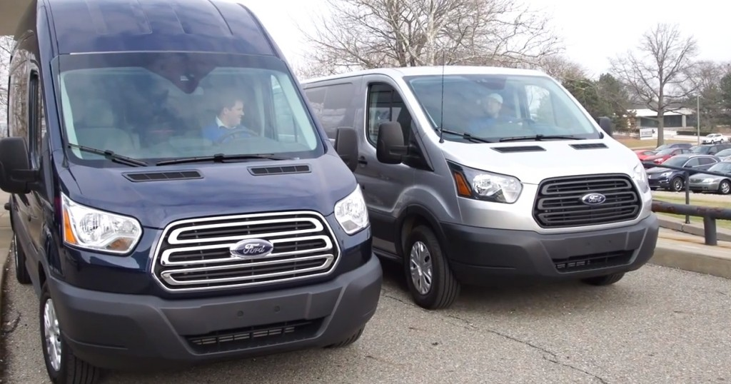 These two Ford Transit vans delivered the coats and jackets to the Salvation Army.