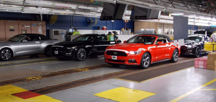 2015 Ford Mustang Convertible at Flat Rock Assembly