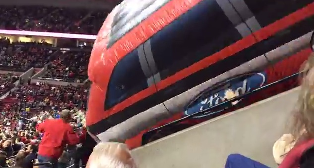 Ford Blimp Portland Trailblazers - Indiana Pacers basketball game