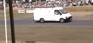 Jaguar-powered Ford Transit van