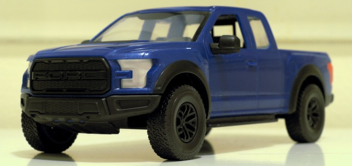 Revell's Ford F-150 Raptor model from the NAIAS, as constructed by yours truly.