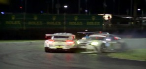 Porsche 911 RSR 24h of Daytona crash