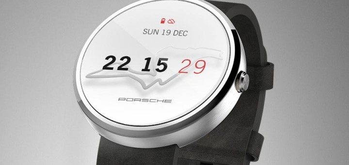 Porsche Android Wear smartwatch face