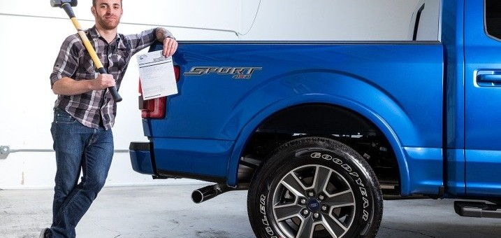 2015 Ford F-150 Hit With Sledge Hammer By Edmunds.com