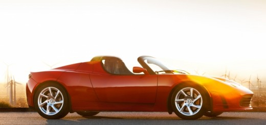 Tesla Roadster 3-0 in red