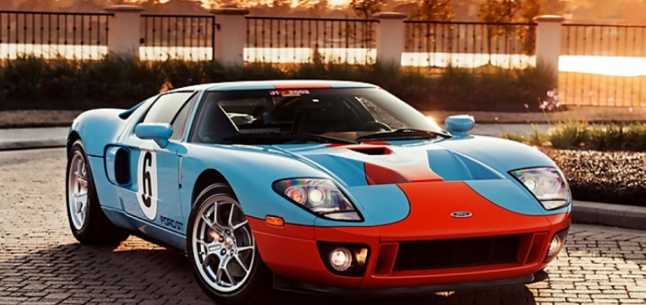 Mecum Gulf Liveried 2006 Ford Gt Heritage Edition Motrolix