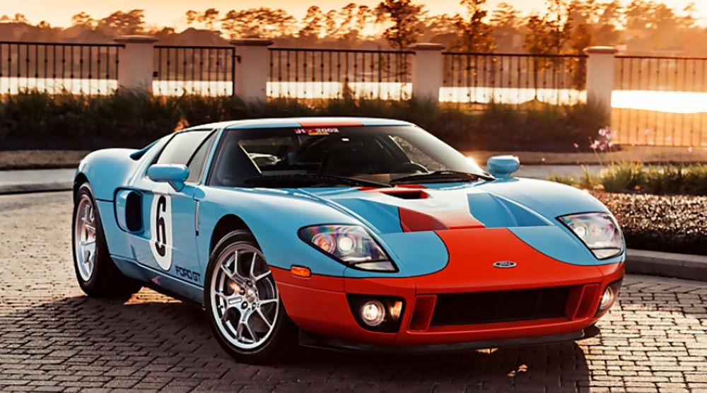 Mecum: Gulf-Liveried 2006 Ford GT Heritage Edition | Motrolix