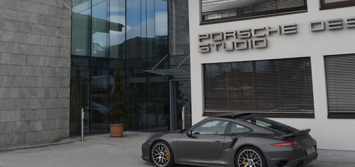 Outside the Porsche Design Studio. Photo: iWmagazine.com
