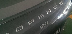 Porsche 911 with a misspelling