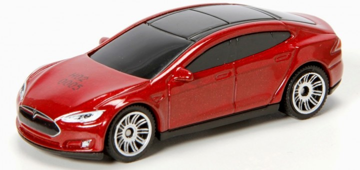 Tesla Model S scale model by Matchbox. Photo: Lamley Group