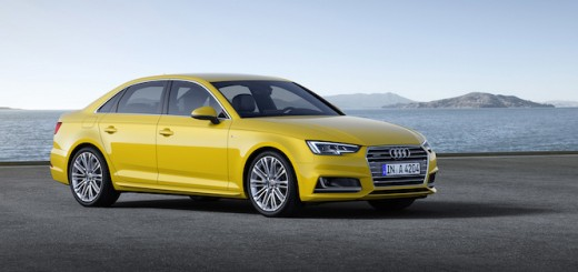 2016 Audi A4 Yellow Side Quarter Official