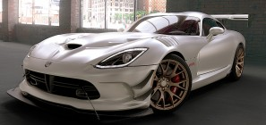 2016 Dodge Viper ACR with matte finish paint.