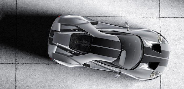 The all-new Ford GT in Liquid Silver