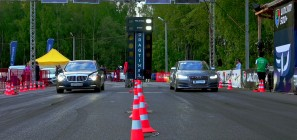 Maybach 57 S Audi S8 drag race
