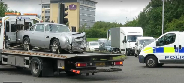 Aston Martin DB5 Crash Video
