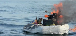 BikeBoat fire on English Channel