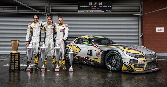 Marc VDS BMW Z4 GT3 24 Hours of Spa Win