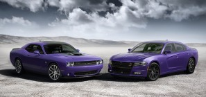 2016 Dodge Challenger 392 HEMI® Scat Pack Shaker (left) and Charger R/T Road & Track (right)