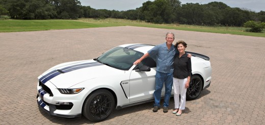 2016 Shelby GT350 with George W Bush
