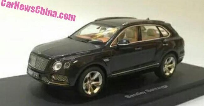Bentley Bentayga SUV Model Leak