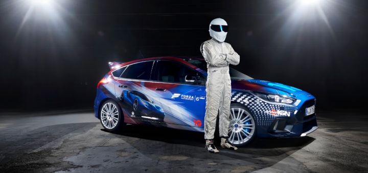 The Stig with Forza Focus RS