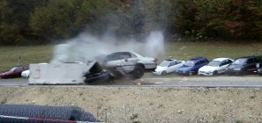 124 mph high-speed crash test