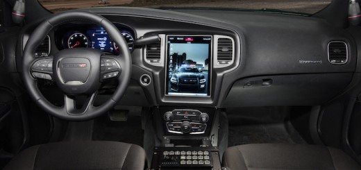 2016 Dodge Charger Pursuit's all-new and segment's largest Uconnect 12.1-inch touchscreen that enables a segment-exclusive integration of law enforcement computer systems with the easy-to-use and award-winning Uconnect touchscreen system.