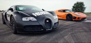 Bugatti Veyron Vs Koeniggsegg CCX Drag Race Video