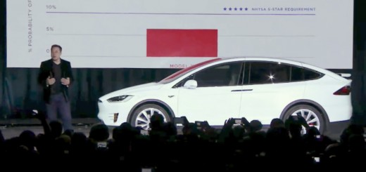 Elon Musk launching the Tesla Model X