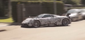 Pagani Huayra Spied Video