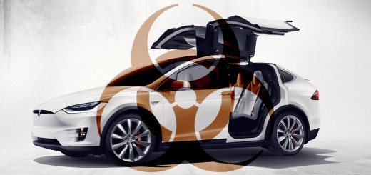 Tesla Model X - biohazard symbol