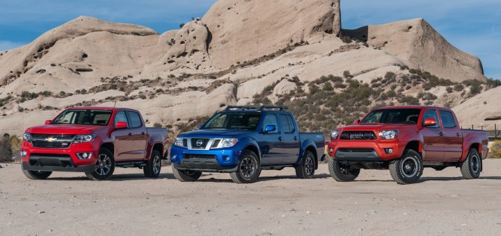 S Of Chevy Colorado Gmc Canyon Toyota Tacoma And Nissan Frontier Jump In April 2016