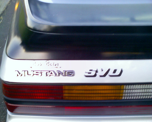 Ford Mustang SVO badge