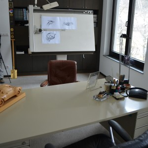 "Inside the office of the late F.A. ""Butzi"" Porsche. Photo: iWmagazine.com"