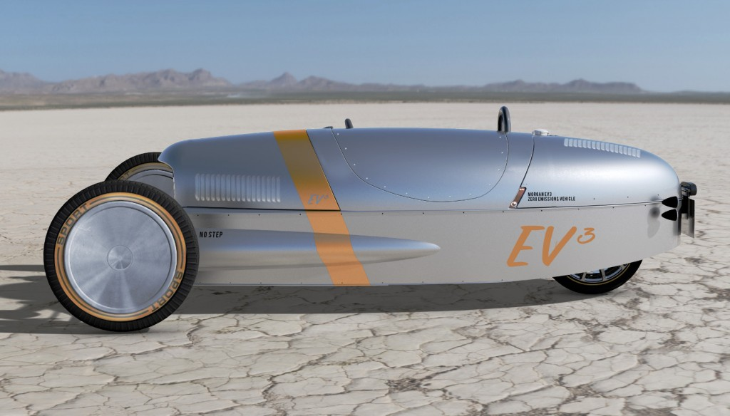 2017 Morgan EV3 on Salt Flats