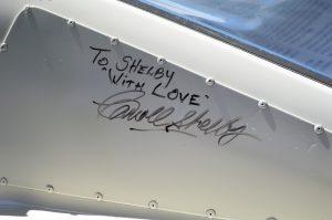 Signature on the No. 34 G.T. 350R race-spec car. Photo: Aaron Birch