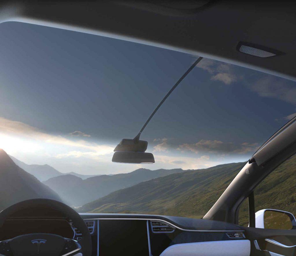 Tesla Model X windshield